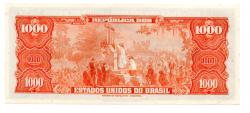 C120 - 1 Cruzeiro Novo (Sobre 1000 Cruzeiros) - 1° Estampa - Série 3871 - Pedro Alvares Cabral - Data:1967 - SOB/FE