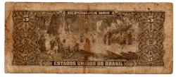 C071 - 5 Cruzeiros - 2° Estampa - Série 3111 - Numeração 000137 - Barão do Rio Branco - Data: 1962 - R