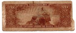 C088 - 20 Cruzeiros - 2° Estampa - Série 2101 - Numeração: 000072 -  Deodoro da Fonseca - Data: 1962 - UTG