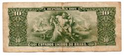C114 - 1 Centavo (Carimbo sob 10 Cruzeiros) - 2° Estampa - Série 3293 - Numeração: 000087 - Getúlio Vargas - Data: 1967 - UTG