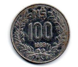 Uruguai - 1989 - 100 Nuevos Pesos