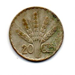 Uruguai - 1942 - 20 Centésimos - Prata .720 - Aprox 3 g -  19mm
