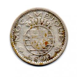 Moçambique - 1960 - 5 Escudos - Prata .600 - Aprox 4 g -  22mm