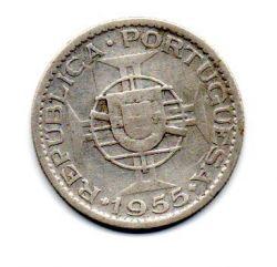 Moçambique - 1955 - 10 Escudos - Prata .720 - Aprox 5 g -  24mm