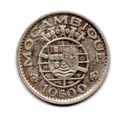 Moçambique - 1960 - 10 Escudos - Prata .720 - Aprox 5 g -  24mm