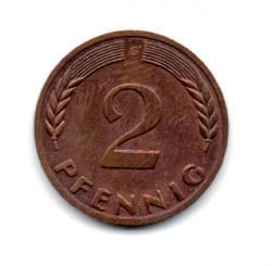 Alemanha - 1970G - 2 Pfennig