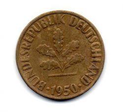 Alemanha - 1950G - 10 Pfennig