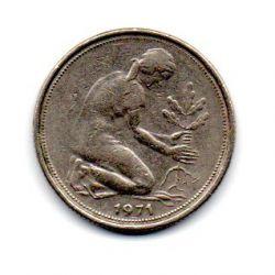 Alemanha - 1971F - 50 Pfennig