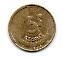 Bélgica - 1986 - 5 Francs Legenda em Flamengo