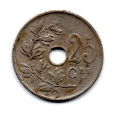 Belgica - 1929 - 25 Centimes Legenda em Francês
