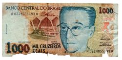 C238 - 1000 Cruzeiros Reais - Anísio Teixeira - Data: 1993  - UTG