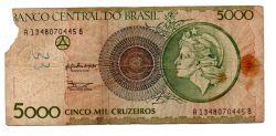 C222 - 5000 Cruzeiros - Efígie da República - Data: 1990