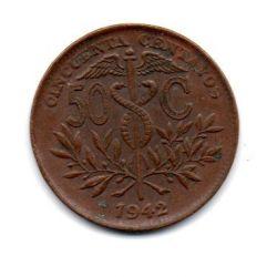 Bolivia - 1942 - 50 Centavos