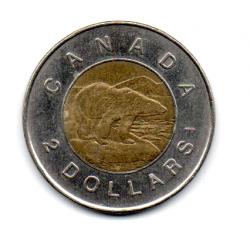 Canadá - 2002 - 2 Dollars Comemorativa (Rainha Elizabeth do Jubileu de Ouro)