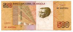 Angola - 500 Kwanzas - Cédula Estrangeira