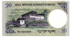 Butão - 10 Ngultrum - Cédula Estrangeira