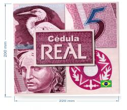 C278 - Folder com Cédula de 5 Reais - Data: 2009 - Guido Mantega (2° Chancela) / Henrique de Campos Meirelles - CC - Fe
