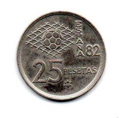 Espanha - 1980 (Data Dentro das Estrelas) - 25 Pesetas Comemorativa (Copa do Mundo FIFA da Espanha)
