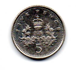Grã-Bretanha - 1999 - 5 Pence