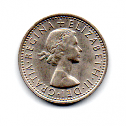 Grã-Bretanha - 1967 - 6 Pence