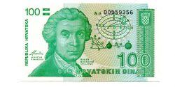 Croácia - 100 Dinara - Cédula Estrangeira
