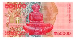 Croácia - 50.000 Dinara - Cédula Estrangeira
