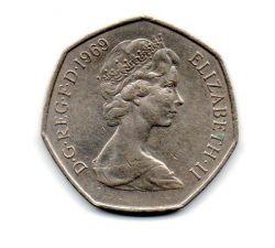 Grã-Bretanha - 1969 - 50 New Pence