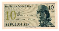 Indonésia - 10 Sen - Cédula Estrangeira