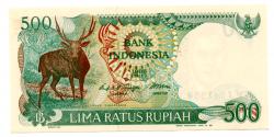 Indonésia - 500 Rupiah - Cédula Estrangeira