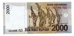 Indonésia - 2.000 Rupiah - Cédula Estrangeira
