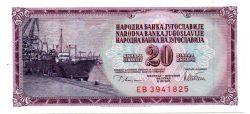 Iugoslávia - 20 Dinara - Cedula Estrangeira