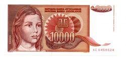 Iugoslávia - 10.000 Dinara - Cedula Estrangeira