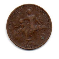 França - 1916 - 5 Centimes