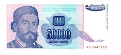 Iugoslávia - 50.000 Dinara - Cedula Estrangeira