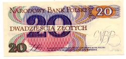 Polônia - 20 Zlotych - Cédula Estrangeira