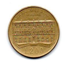 Italia - 1990 - 200 Lire Comemorativa (100º aniversário do Conselho de Estado)
