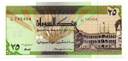 Sudão - 25 Sudanese Dinars - Cédula Estrangeira