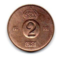Suécia - 1955 - 2 Ore