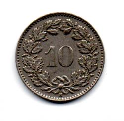 Suíça - 1954 - 10 Rappen