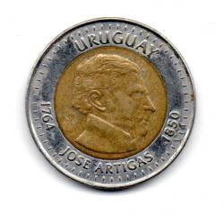 Uruguai 2000 - 10 Pesos Comemorativa (150 anos de morte General José Artigas)