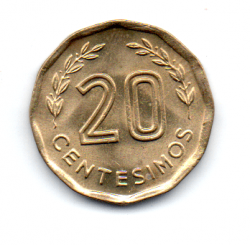 Uruguai - 1981 - 20 Centésimos