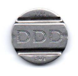 Ficha DDD Sistema Telebrás 1986