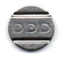 Ficha DDD Sistema Telebrás 1988