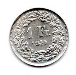 Suíça - 1945 - 1 Franc - Prata .835 - Aprox. 5 g - 23mm