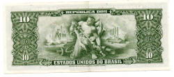 C113 - 1 Centavo (Carimbo sob 10 Cruzeiros) - 2° Estampa - Série Aleatória - Getúlio Vargas - Erro: