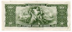 C113 - 1 Centavo (Carimbo sob 10 Cruzeiros) - 2° Estampa - Série Aleatória - Getúlio Vargas - Erro: \