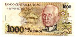 C218 - 1000 Cruzeiros - Cândido Rondon - Data: 1991 - Estado de Conservação:  (MBC/SOB)