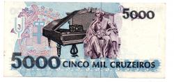 C221 - 5000 Cruzeiros - Carlos Gomes - Data: 1993 - Estado de Conservação: Soberba (Sob)
