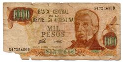 Argentina - 1.000 Pesos  - Cédula Estrangeira