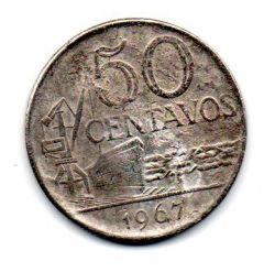 1967 - 50 Centavos - Moeda Brasil - Estado de Conservação: Regular (R)